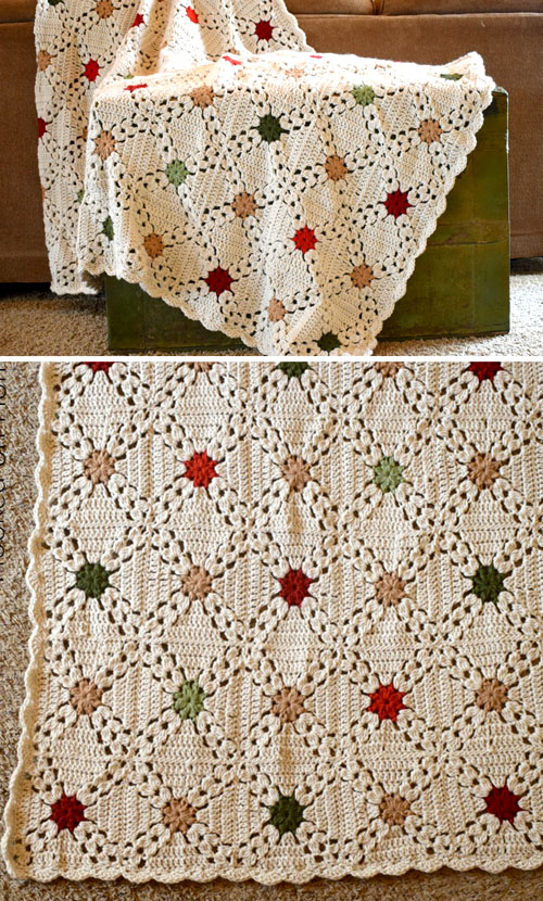 Country Christmas Afghan - Free Crochet Pattern
