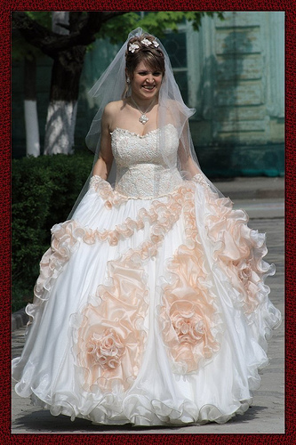 Russian White And Blue Wedding Dress Designs Wedding
