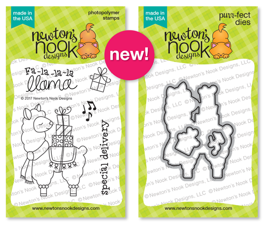 Llama Delivery Stamp Set and Die Set by Newton's Nook Designs #newtonsnook