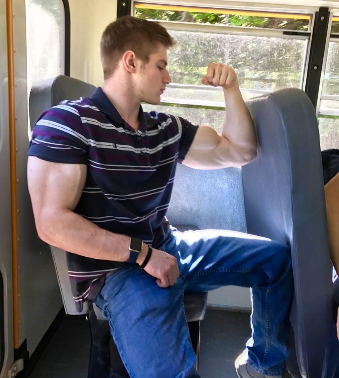 bad-boys-school-bus-huge-muscle-biceps-flexing-bro-sexy-dude