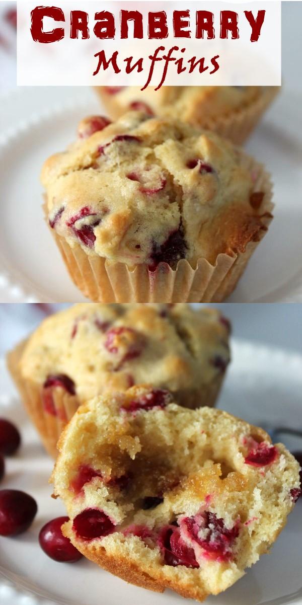 Cranberry Muffins Recipe #cupcakerecipes