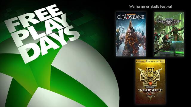 warhammer chaosbane 40k inquisitor martyr warhammer 40,000 mechanicus xbox live gold free play days event