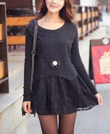 modestil36 neuste modelle moderne abendkleider 2014 spring neue spitzen n hen langarm kleider. Black Bedroom Furniture Sets. Home Design Ideas