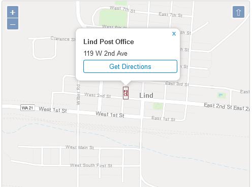 Post Office Lind Adams