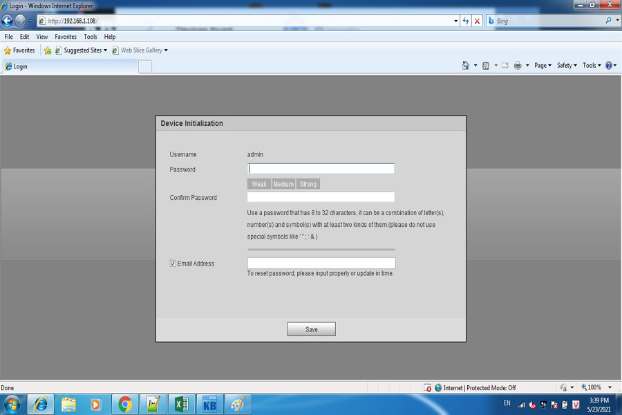 đặt password cho camera IP