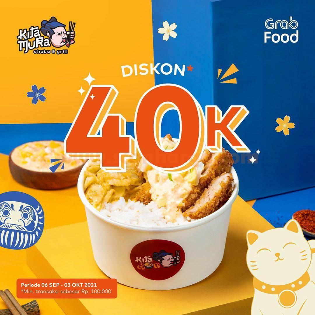 Promo KITAMURA DISKON Rp. 40.000 via Grabfood