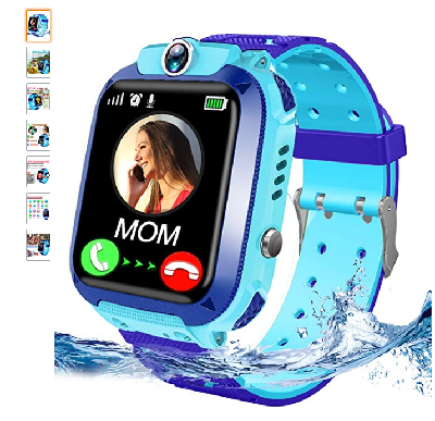 Kids Waterproof Smart Watch Phone LBS Tracker for Girls Boys