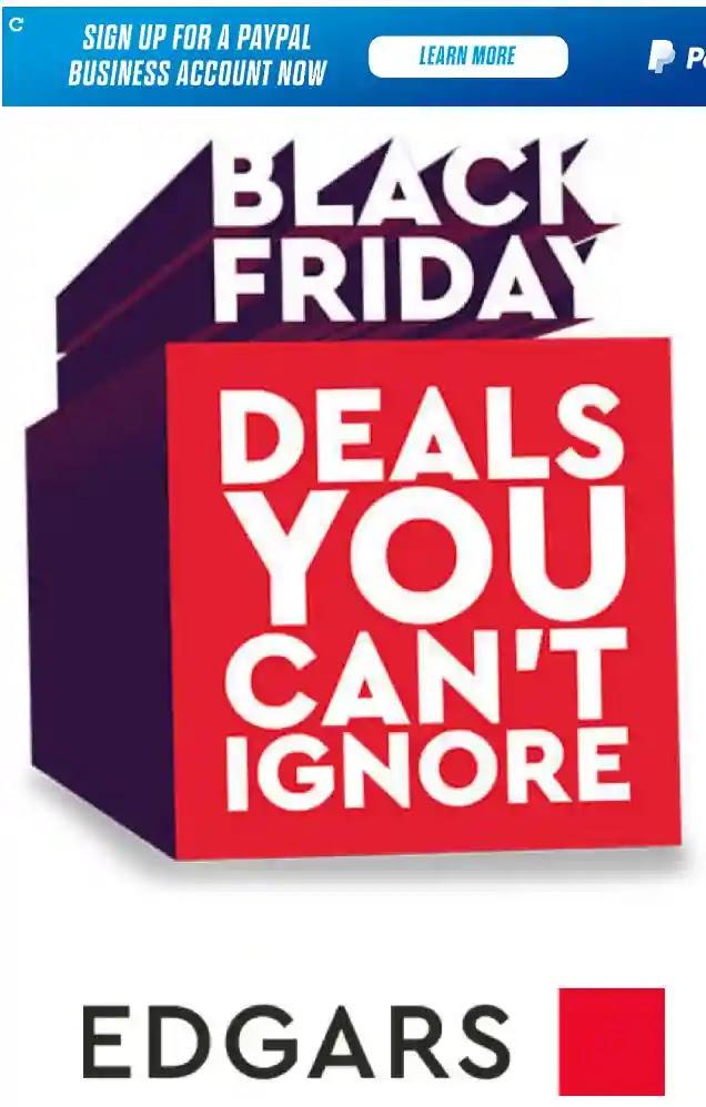 Edgars Black Friday Deals