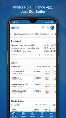 تطبيق Moneycontrol v6.4.0 لمتابعة سوق البورصة و الأسهم