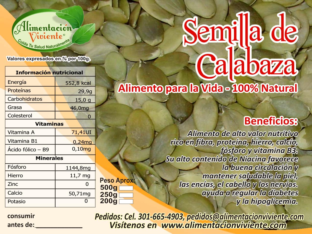 semillas de calabaza proteinas