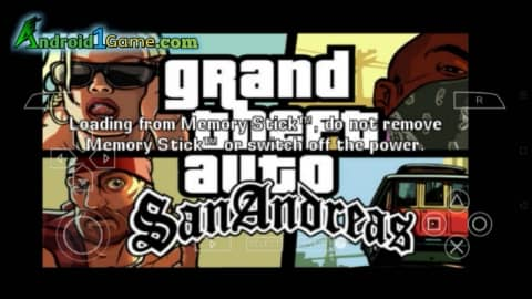 GTA San Andreas for iOS/Android/PC with PSP Emulator