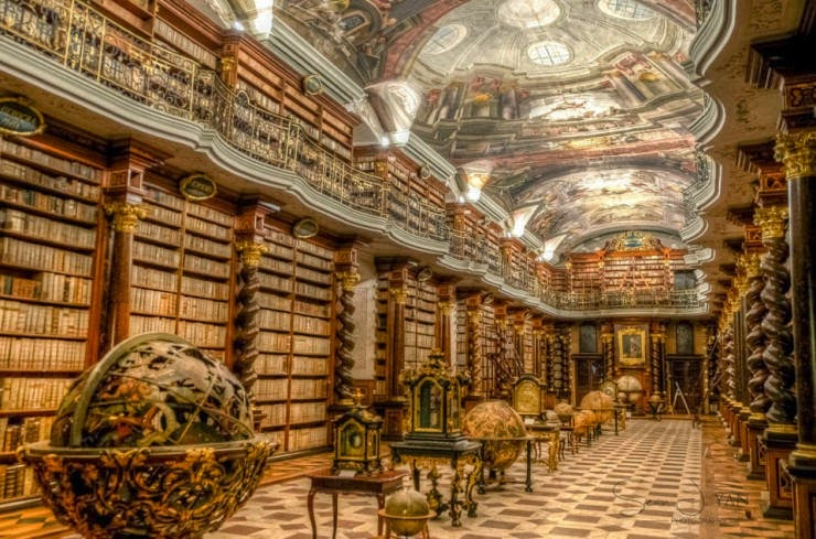 22. The Theological Hall, Prague, The Czech Republic - 31 Incredible Libraries and Bookstores Around the World