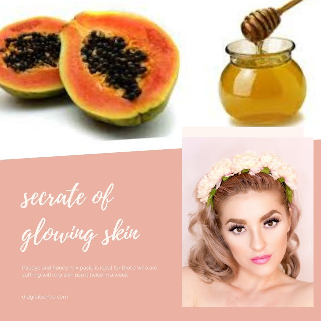 papaya and honey mix for dry skin