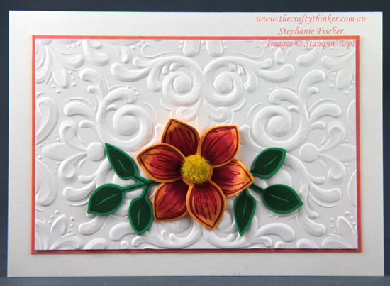 #thecraftythinker #stampinup #floralessence #cardmaking , floral card, Parisian Flourish, Floral Essence Bundle, Stampin' Up Demonstrator, Stephanie Fischer, Sydney NSW