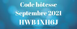 Code d'hôtesse du mois (Achats en ligne sur ma boutique)