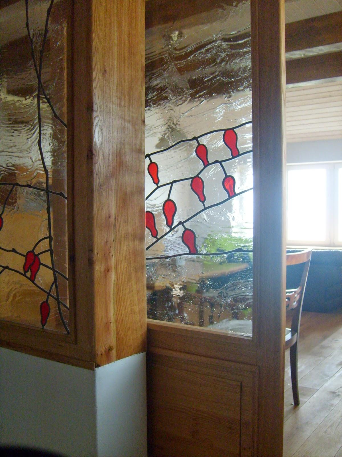vitráž do posuvných dveří