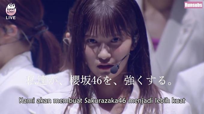 Sakurazaka46 Backs Live Day 1 Subtitle Indonesia