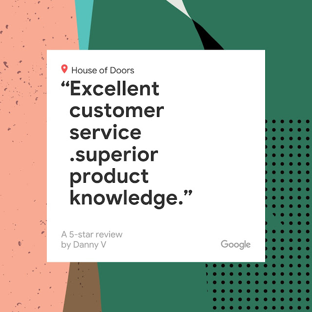 Another 5-star Google review for House of Doors - Roanoke, VA