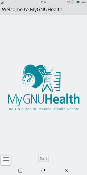 Εκκίνηση της εφαρμογής MyGNUHealth στο PinePhone
