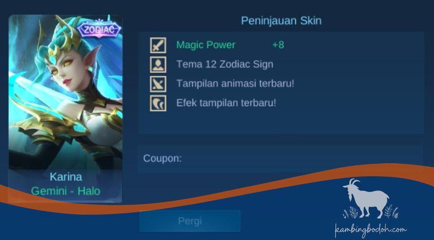 "Skin Karina - Gemini ""Halo""(21 Mei-20 Juni)"