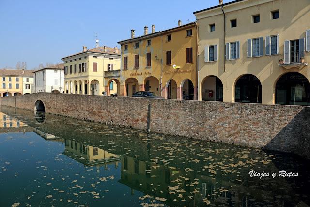 Casas de la población italiana de Fontanellato