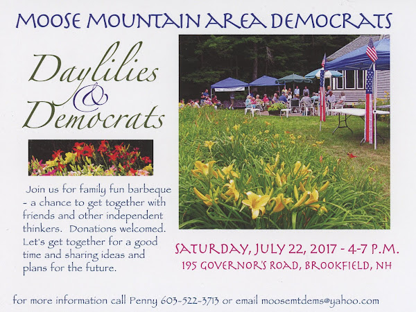 Moose Mountain Area Dem Daylilies & Democrats-Sat July 22nd 4-7PM