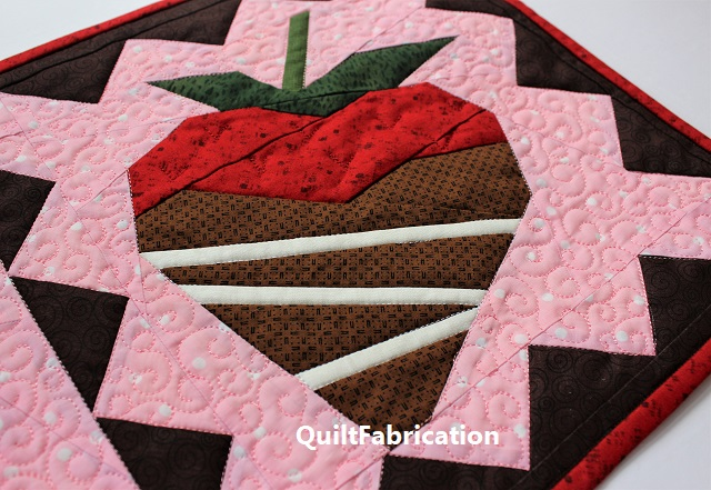 foundation paper pieced/one direction seams strawberry