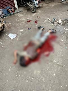 बुरहानपुर में पुष्पक बस स्टैंड के पास दिनदहाड़े चाकू मारकर की हत्या