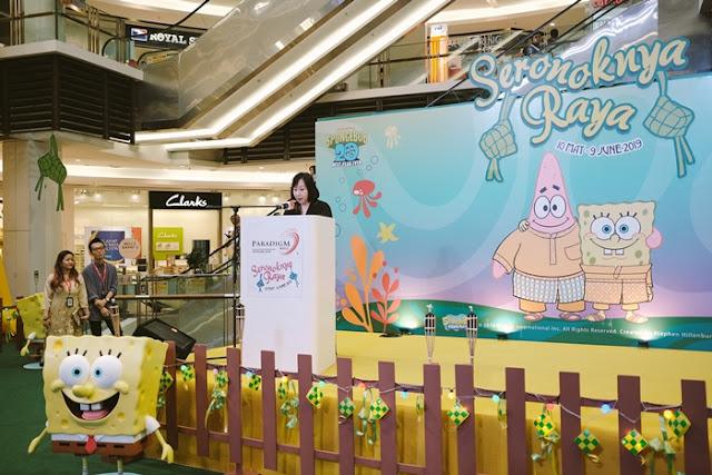 SpongeBob SquarePants, Patrick Star, Seronoknya Raya, Paradigm PJ, Paradigm JB, gatewat@klia2, raya 2019, malaysia shopping mall, shopping mall raya decor lifestyle