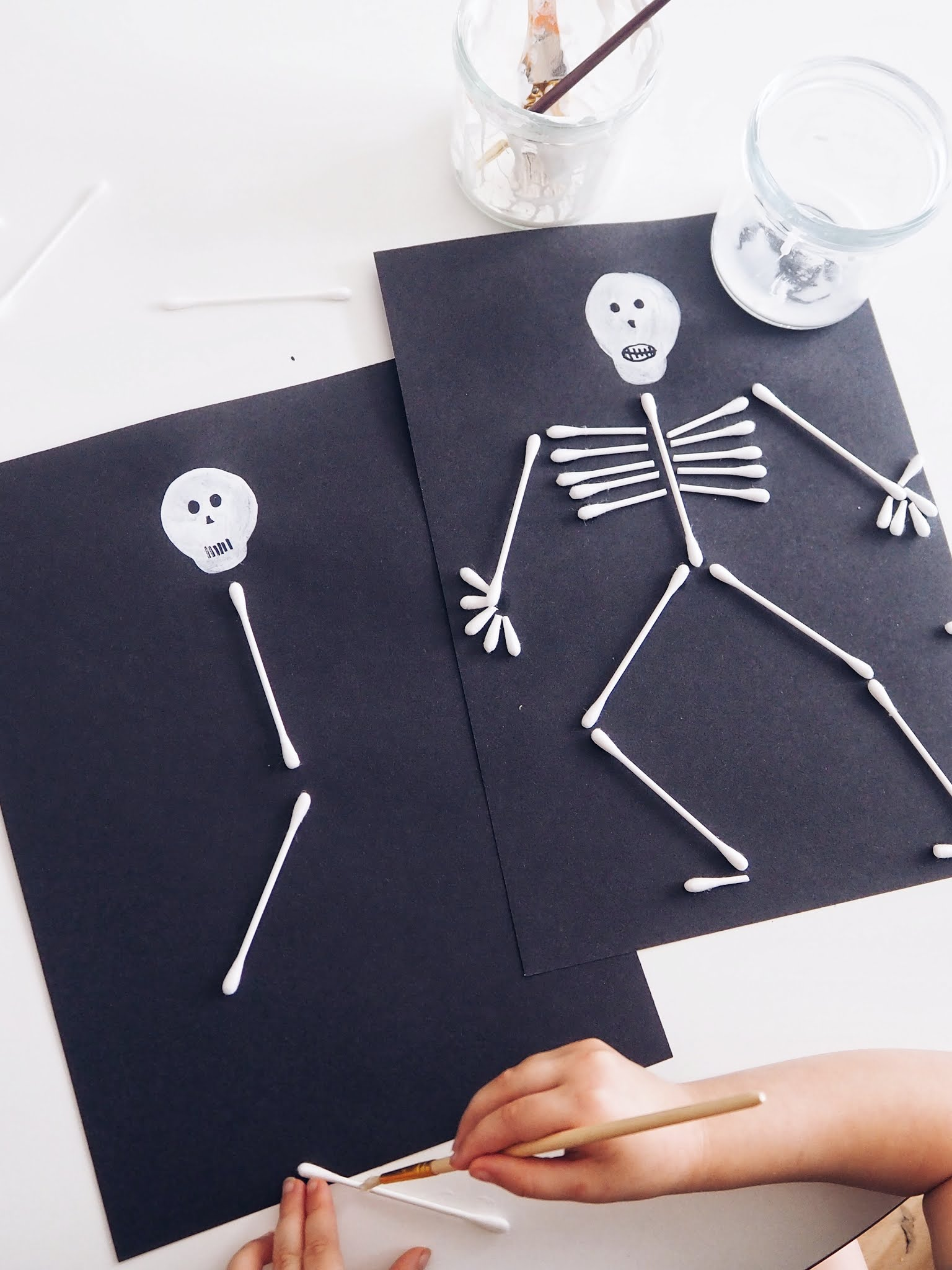 Cotton Bud Halloween Craft