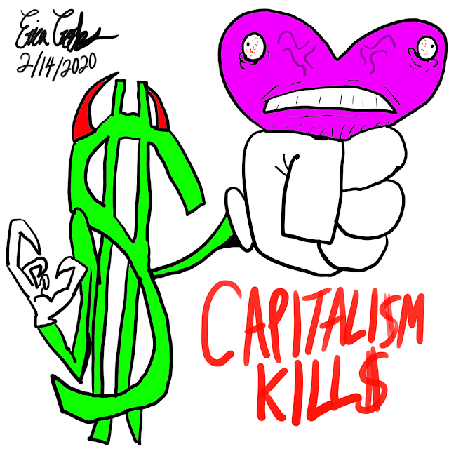#ericacrooks #ericacrookscomics #ericacrookscomics2020 #officialericcrooks #valentinesday #anticapitalist #anticapitalism #capitalismkills #classwar #classconsciousness #anarchy #anarchist #anarchism #libertariansocialist #libertariansocialism #anarchocommunist #anarchocommunism #lovevsfear #soulvsego #darkcomedy #darkhumor #satire #politicalsatire #politicalcartoon #politicalcartoons #antiestablishment #valentinesday2020 #valentinesdaycartoon #valentinesdaycartoons #antivalentinesday  And for more content from Erica Crooks Check out : https://linktr.ee/officialericcrooks  * Hilarious puppet and cartoon dark comedy , parodies , satire , slapstick humor for adults * Personality Type Science , mostly INFP * LGBTQ+ activism ( Especially Transgender Lesbians )* Empath : Twin Flames , Lightworker , Heyoka , Old Soul , Indigo / Crystal , Starseeds  * New Age / New Thought Spirituality From Law of Attraction to 5D Earth( Spiritual Liberation / Spiritual Anarchism ) * Libertarian Socialist Anarchism ( Cultural / Philosophical / Spiritual / Pacifism ) * Pop Culture Reviews / Comic Con / Puppets and Cartoon Animation AND MORE visit The Official Erica Crooks Websites :Personal Website : ericacrooks.weebly.com Official Website for The Erica Crooks Show : officialericcrooks.weebly.com Also Like , Subscribe , Notification Bell thingy , etc Mastodon : @ officialericcrooks @ mastodon.social PeerTube : https://peertube.dk/accou…/officialericcrooks/video-channels Facebook: http://facebook.com/officialericcrooks YouTube : http://youtube.com/user/officialericcrooks Instagram : http://Instagram.com/officialericcrooks/ Tumblr : https://officialericcrooks.tumblr.com/ Blogger : http://officialericcrooks.blogspot.com/WordPress: https://officialericcrooks.wordpress.com Deviant Art : https://www.deviantart.com/officialericcrooks Dailymotion : http://www.dailymotion.com/user/officialericcrooks Dailymotion : http://www.dailymotion.com/user/officialericcrooks1 ( backup )Newgrounds: http://officialericcrooks.newgrounds.com Pinterest: https://www.pinterest.com/officialec1/ Twitter: http://twitter.com/crooks_erica