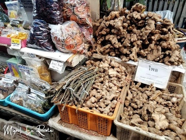 Especias en Pak Khlong Talat, Bangkok