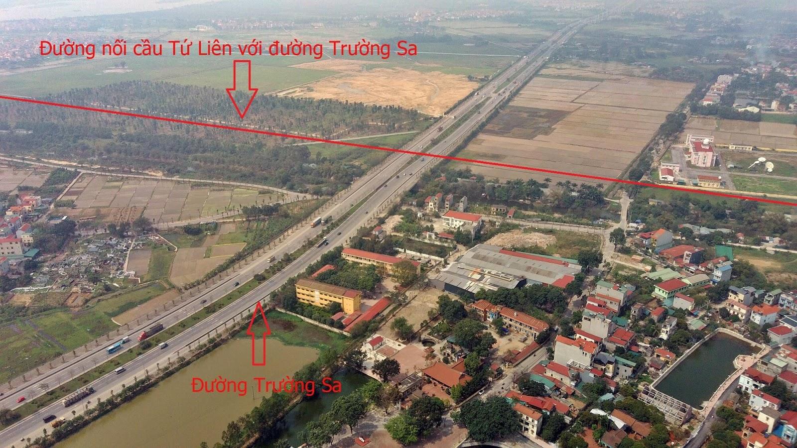 Nút giao thông cầu Tứ Liên - Trường Sa.