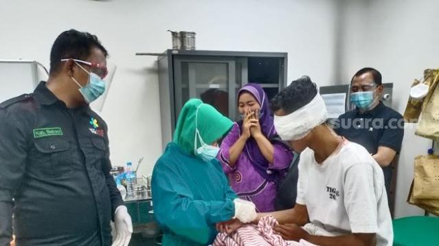 Dorr! Mata Anak STM Tertembak Saat Bentrok dengan Polisi di Bekasi