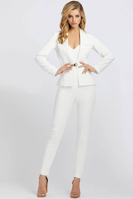 Sweetheart With Jacket Evening Dress Ieena For Mac Duggal White Color