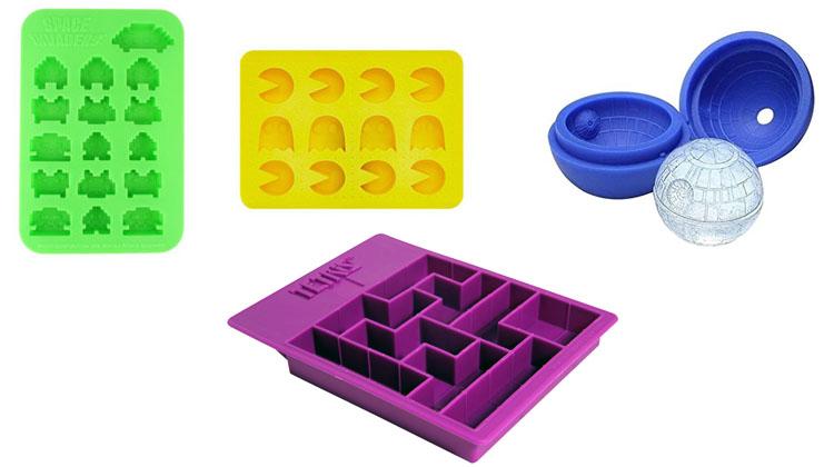 Cubiteras de Tetris, Pacman, Space Invaders y la Estrella de la Muerte