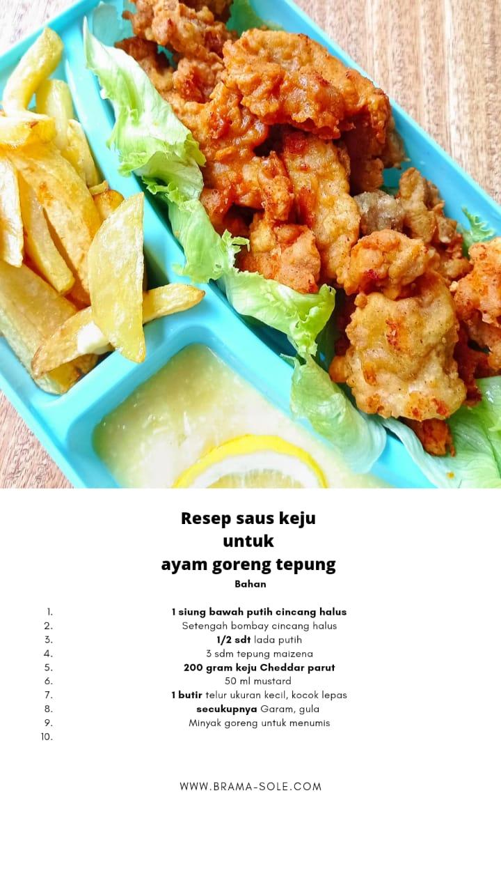 Resep saus keju untuk ayam goreng