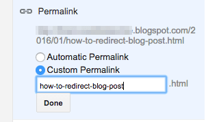 add a parmalink on blogger