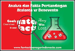 analisa dan fakta pertandingan atalanta vs benevento