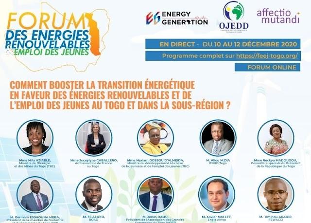 Energies renouvelables : Un forum en ligne attendu du 10 au 12 décembre à Lomé
