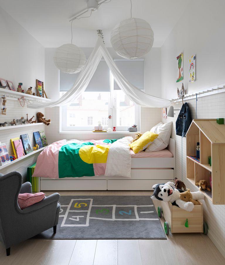 catálogo ikea 2020 the lab home Alemania dormitorio estructura cama blanca y funda nórdica color novedad deco