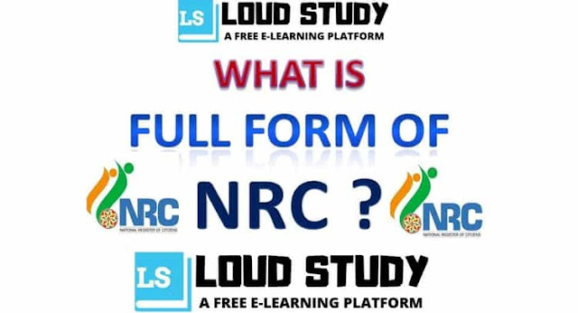 What is the Full Form of NRC