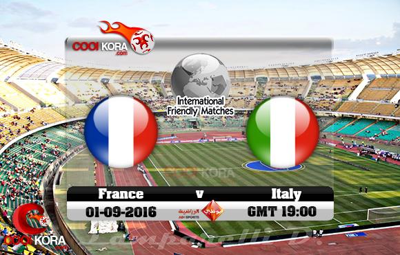 مشاهدة مباراة إيطاليا وفرنسا اليوم 1-9-2016 مباراة ودية