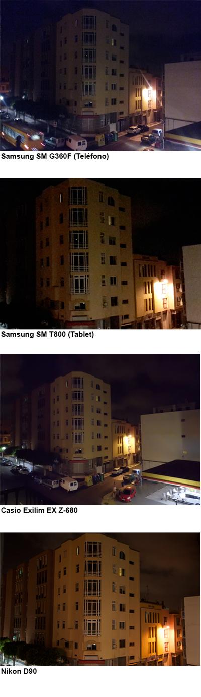 Comparativa mala iluminación