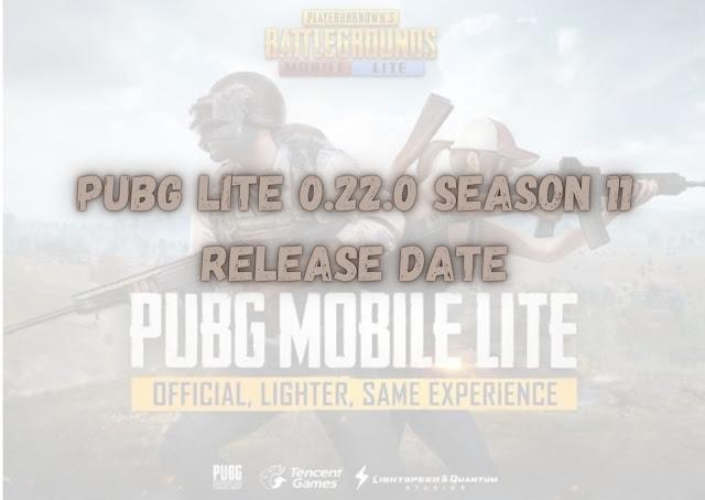 PUBG Mobile Lite 0.22.0 Update and Season 11 Tier release date