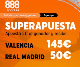 888sport superapuesta supercopa Valencia vs Real Madrid 8 enero 2020