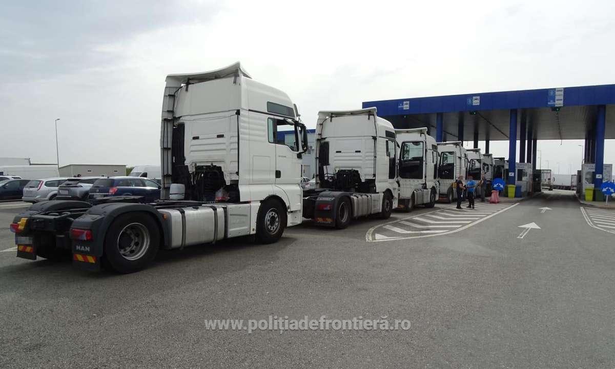 Nouă mijloace de transport căutate de autoritățile din România, oprite la ieşirea din ţară în P.T.F. Calafat
