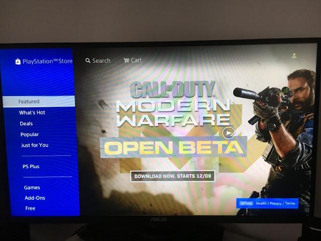 البيتا المفتوحة للعبة Call of Duty Modern Warfare متوفرة الآن على جهاز PS4