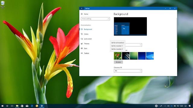 كيفية تعيين خلفية مختلفة لكل شاشة على ويندوز 10