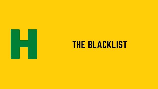HackerRank The Blacklist problem solution
